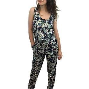 Eva Mendes Floral Jumpsuit with Pockets